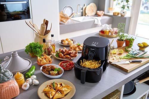 Philips Airfryer digital premium con tecnología para quemar grasa con libro de cocina Bonus 150+, 3 cuartos de galón, negro HD9741 / 99 10