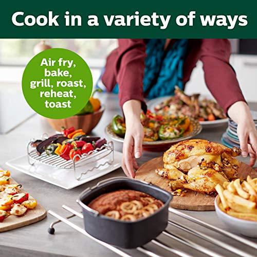 Philips Airfryer digital premium con tecnología para quemar grasa con libro de cocina Bonus 150+, 3 cuartos de galón, negro HD9741 / 99 4