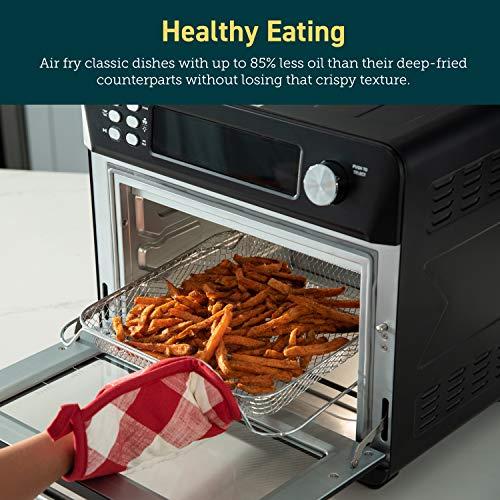 COSORI Smart 12 in 1 freidora de aire para horno, deshidratador de encimera para pollo, pizza y galletas, regalo de Navidad, recetas y accesorios incluidos, funciona con Alexa, 25 L, negro 2