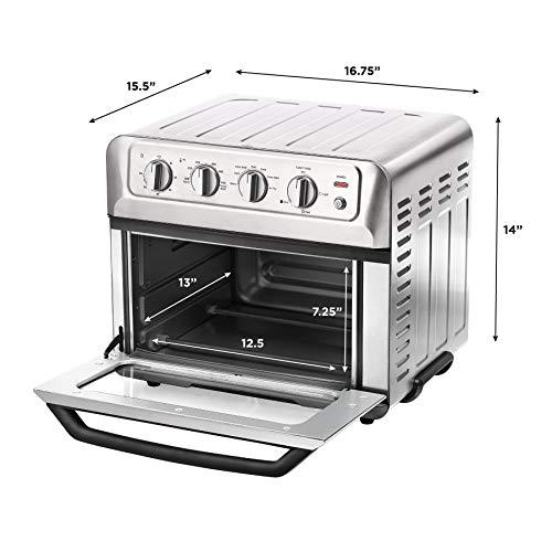 Chefman | Horno Freidora de Aire de 20 Litros | Fríe sin Aceite | 7 en 1 | Interior Antiaderente | Acero Inoxidable 7