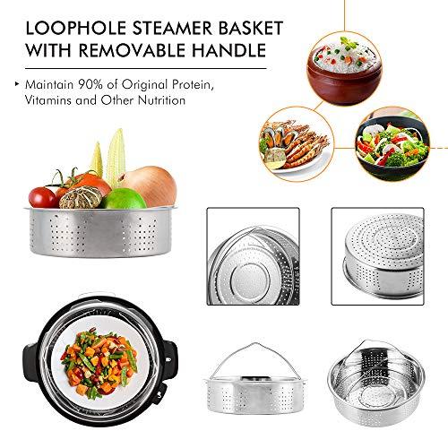 Sunix Accesorios para freidoras de Air presión de 5/6/8 cuartos de galón libro de cocina, aprobado por la FDA, sin BPA, 11 piezas 3