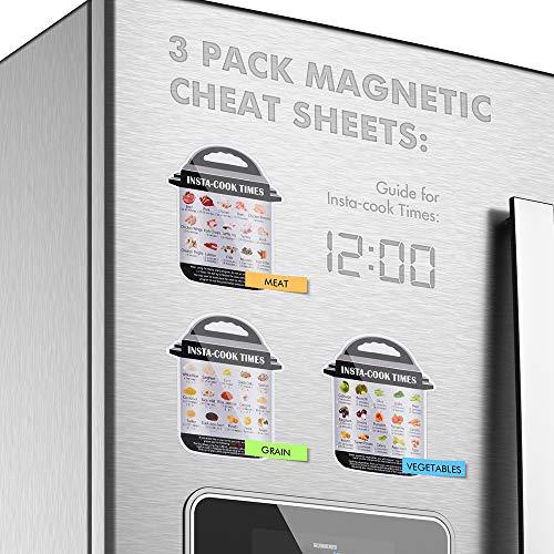 Sunix Accesorios para freidoras de Air presión de 5/6/8 cuartos de galón libro de cocina, aprobado por la FDA, sin BPA, 11 piezas 6