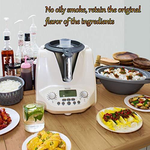 HXXXIN Máquina De Cocción Inteligente Multifuncional, para Cocinar Al Vapor, Freír, Guisar, Olla De Cocción Automática Adecuada para Estudiantes Internacionales Y Trabajadores De Cuello Blanco, Red 3