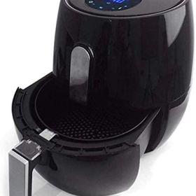 Freidora de aire con pantalla táctil inteligente Sartén eléctrica sin humo para el hogar Máquina para papas fritas Sartén antiadherente Sartén eléctrica completamente automática sin ace