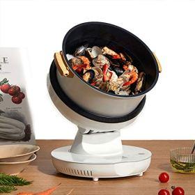 HXXXIN Máquina De Cocción Inteligente Multifuncional para Cocinar Al Vapor, Freír, Guisar Y Freír para Satisfacer Todas Las Necesidades.  Máquina De Cocción Doméstica Completamente Automática