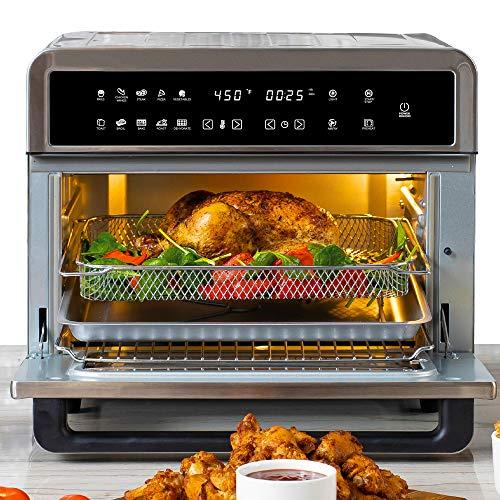 Freidoras Aria Air ATO-898 Freidora de aire para horno tostador, 30 qt, acero inoxidable cepillado 1
