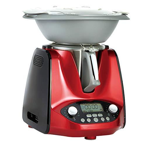 HXXXIN Máquina De Cocción Inteligente Multifuncional, para Cocinar Al Vapor, Freír, Guisar, Olla De Cocción Automática Adecuada para Estudiantes Internacionales Y Trabajadores De Cuello Blanco, Red 1