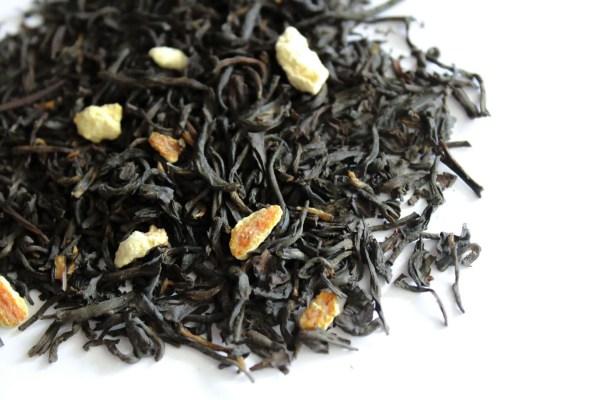 photo of black tea with orange zest, it is named sunshine grey