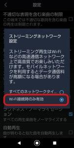 Wi-Fi接続時のみ有効