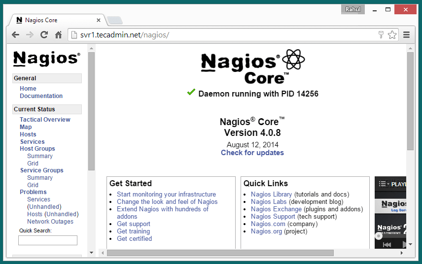 nagios-web-interface