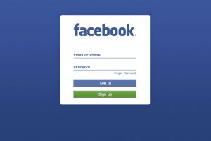 Facebook login page - TeCake