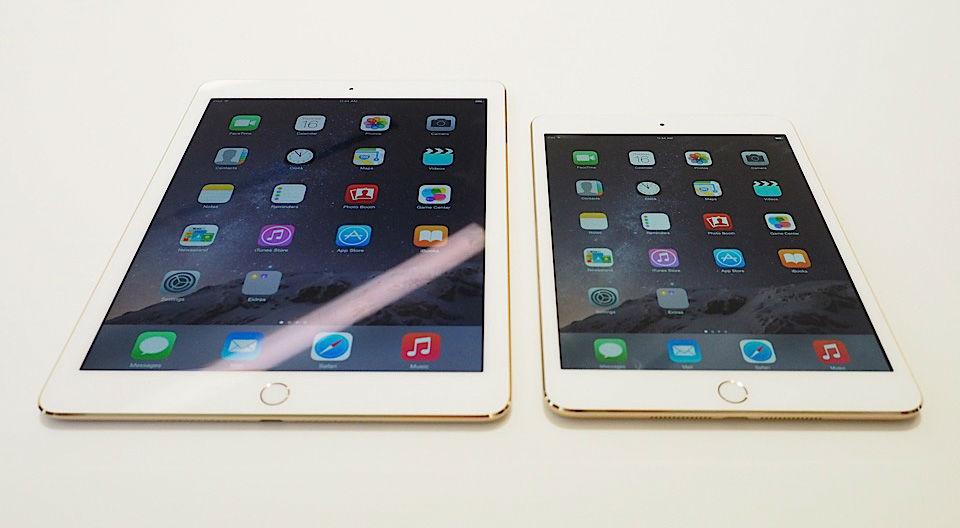 iPad Air 2 and iPad mini 3