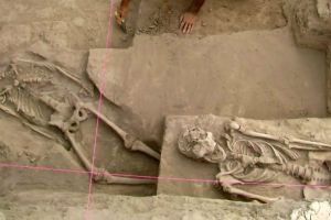 800-year-old turtle shaped tomb with human remains unearthed in China