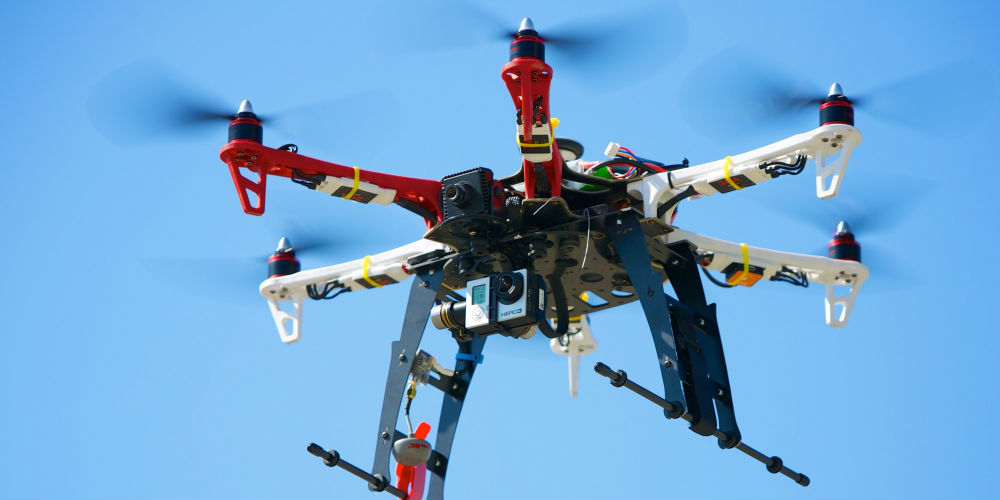 Hexacopter Drones are more effective in studying sea mammals