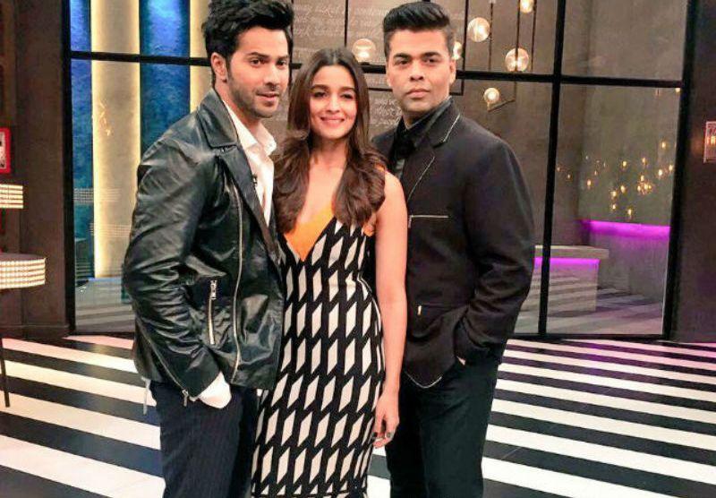 Karan Johar Alia Bhatt and Varun Dhawan