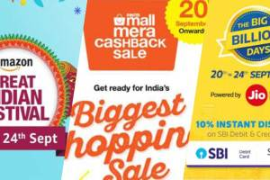 Flipkart, Amazon and PayTM September 2017 Sale Big Billion Day Great Indian Sale PayTM Mall Sale