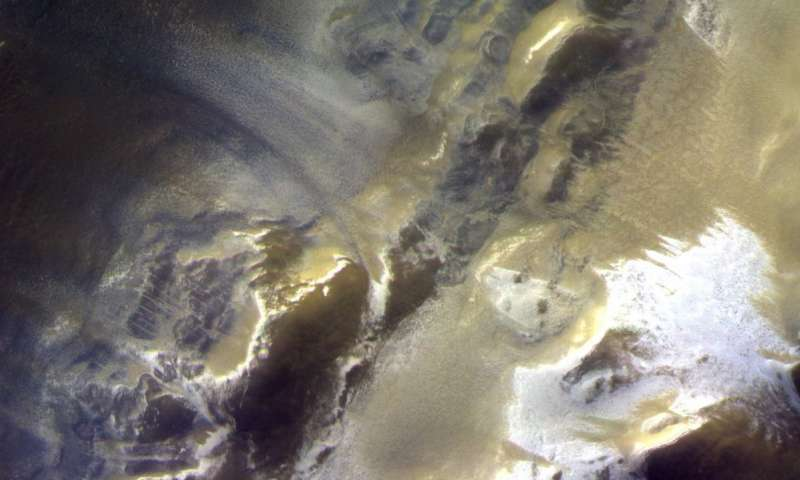 ESA Release New Images of Mars Bathed In Icy light