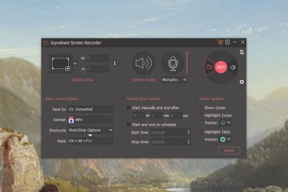 Joyshare Screen Recorder Software Settings
