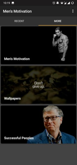 """Men's Motivation"" app Review: A pack of motivational quotes"