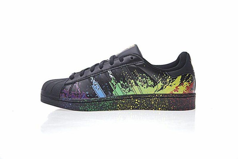 Adidas Superstar Negro Paint Effect
