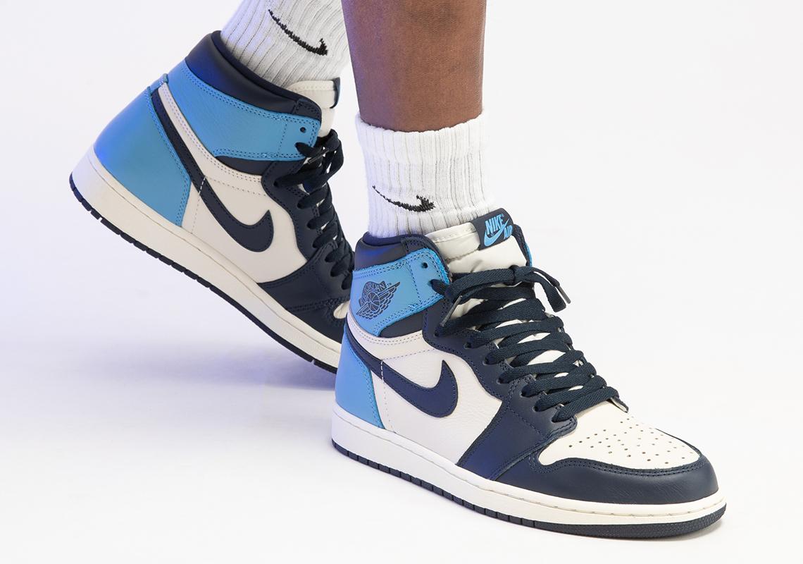 air jordan 1 azul y blancas