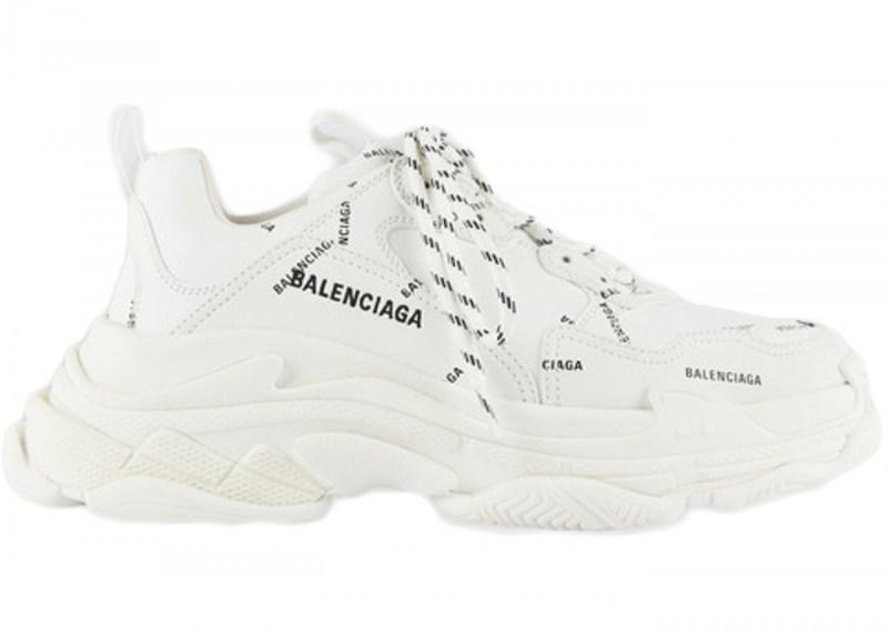 Balenciaga Triple S Allover Logo Blanco