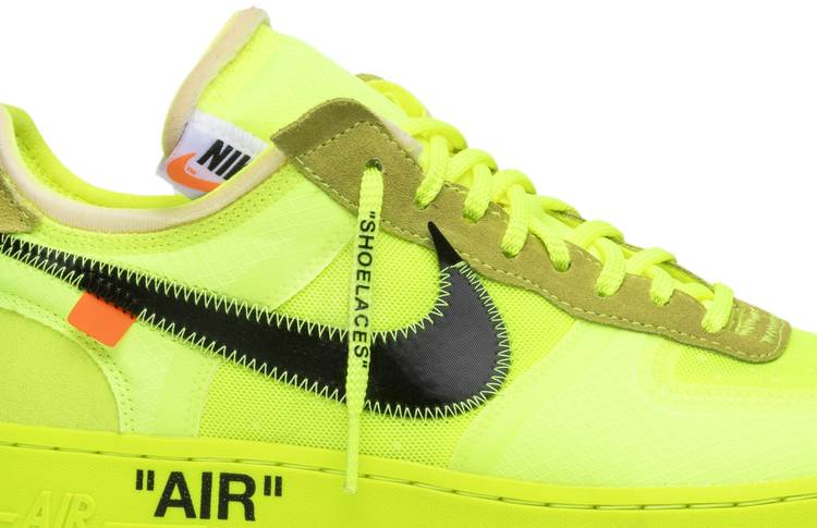 Nike Air Force 1 Off White Fosforescente