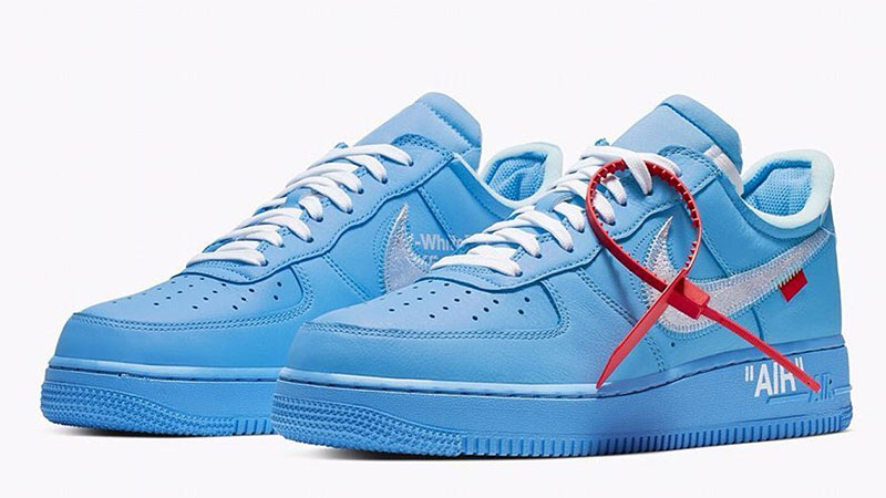 Nike Air Force 1 Off White Azul