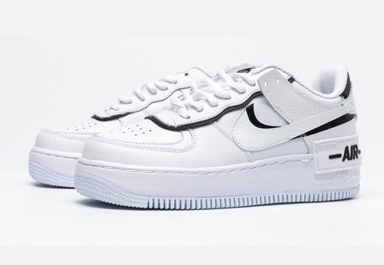 Nike Air Force Shadow Black and White - TeCalzoShoes