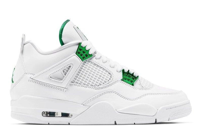 Air Jordan 4 Metallic Green
