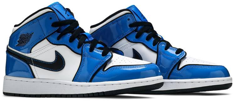 Air Jordan 1 Mid Signal Blue