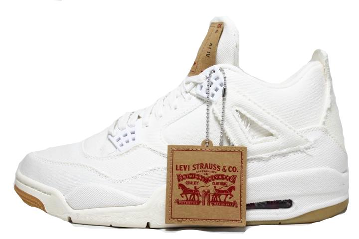 Air Jordan 4 Levi's White