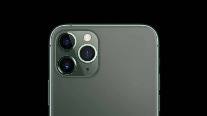 iPhone 11 Pro is equipped with three rear cameras