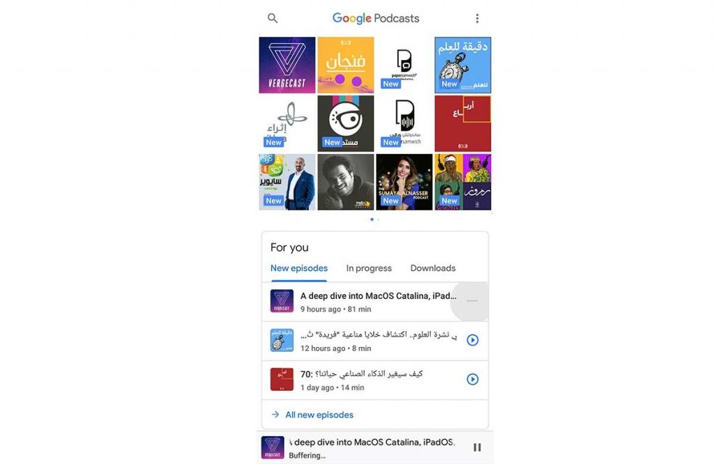 أفضل تطبيقات أندرويد - جوجل بودكاستس