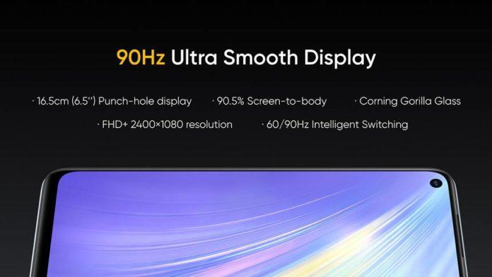 Realme 6 holds a 90 Hz screen
