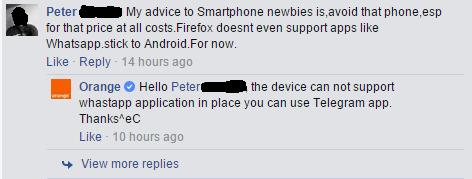 Comments FB on Orange Kilf
