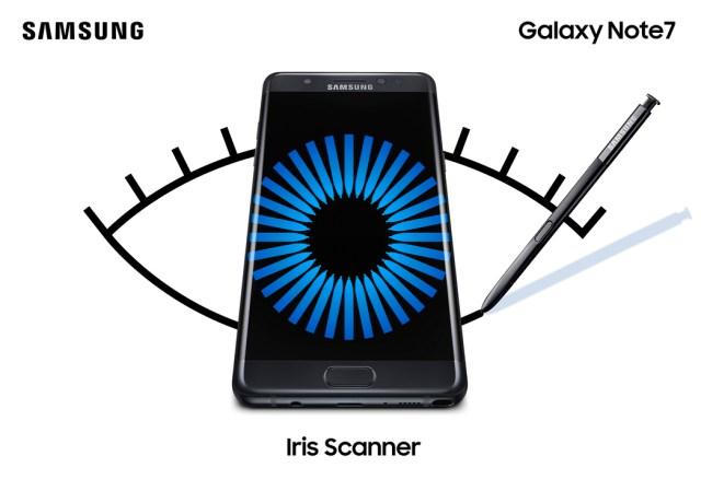 GalaxyNote7 Iris Scanner
