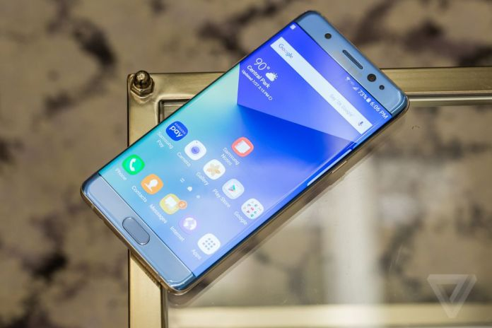 Samsung Note 7 Coral Blue