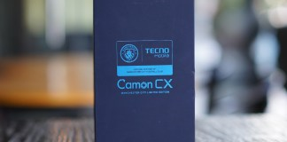 TECNO Camon CX Manchester City Edition