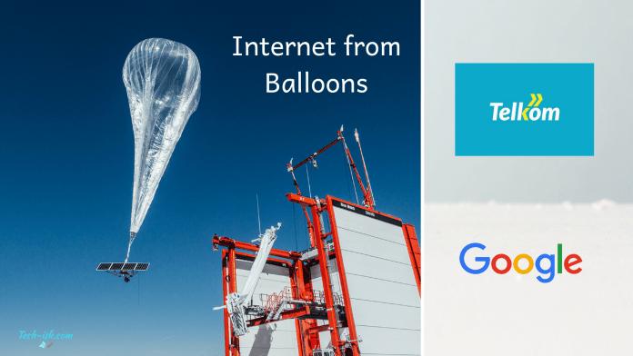 Internet from Balloons Telkom Kenya Loon Inc