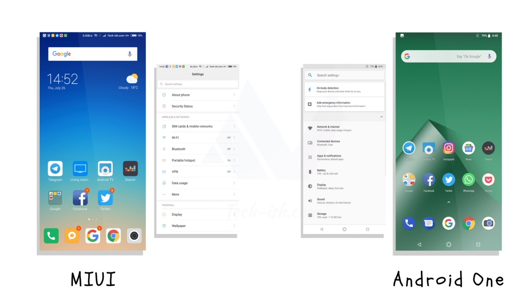 MiUI vs Stock Android