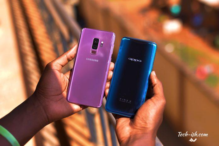 OPPO Find X Samsung Galaxy S9 Plus