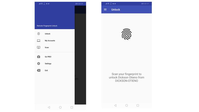 Android Fingerprint Windows Unlocl