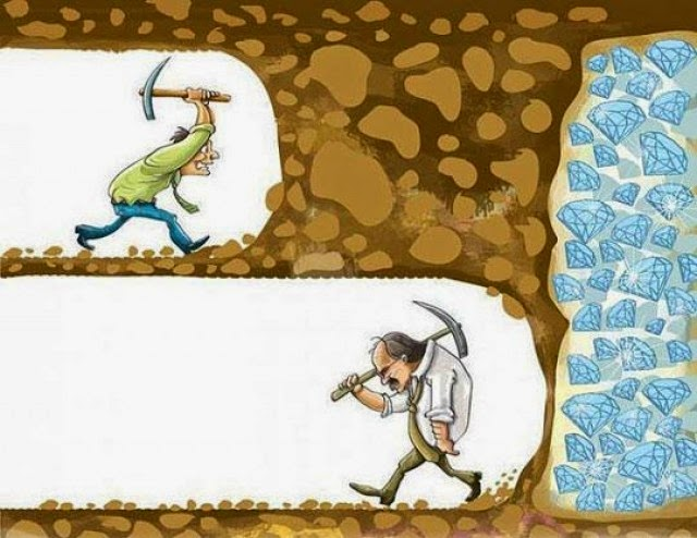 Don't Give Up Mining Gold