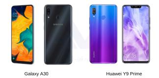 Galaxy A30 vs Huawei Y9 Prime 2019