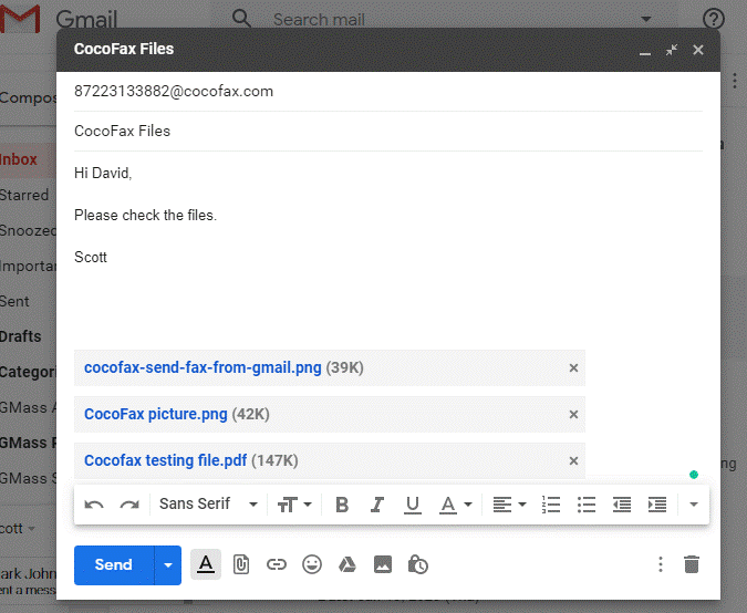Send Fax from Gmail