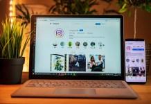 Laptop Instagram Phone