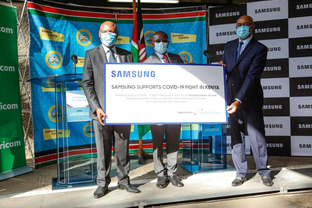 Samsung and Safaricom offer phones and monthly airtime to frontline health workers