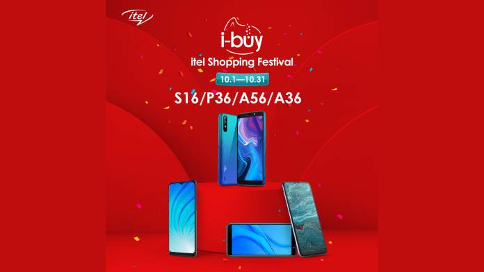 Win 100k weekly from itel's iBuy Shopping Festival