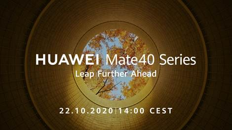 Huawei sends out invites for MATE 40 series launch on 22nd October